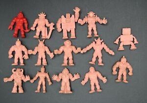 Vintage Lot of 14 (13 Flesh & 1 Red) M.U.S.C.L.E. Men Mini Figures Kinnikuman