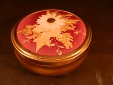STUNNING D WARWICKER SHIPLEY CRAFTS PRESSED DRIED FLOWERS TRINKET POT BOX METAL