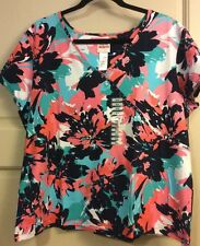 NEW Women's Colorful Faux Wrap Floral XXL/1X/2X $54 Sexy Summer Career Abstract