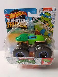 Hotwheels Teenage mutant ninja turtles  monster truck mickelodeon Leonardo