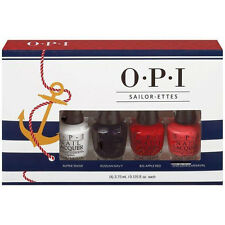 OPI Sailor-ettes Minis:Alpine Snow,Russian Navy,Big Apple Red,Live Love Carnival