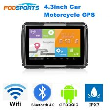 "4.3"" Motorcycle GPS Navigator Waterproof Car Navigation Bluetooth Wifi Android"