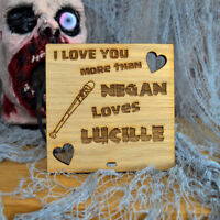 I Love You More Than Negan Loves Lucille The Walking Dead Zombie Valentines Gift