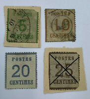 ELSASS-LOTHRINGEN GERMAN STATES 4 DIFFERENT STAMPS USED AND UNUSED, SHORT SET