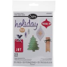 Sizzix Thinlits Dies 13/Pkg - Holiday Icons, Ornaments & Tags (CLEARANCE ITEM)