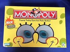 Spongebob Squarepants Monopoly Board Game 100% Complete Parker Bros Nickelodeon