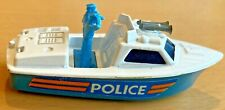 Matchbox Lesney Superfast No 52 Police Launch - Teal coloured Base