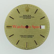 Original Men's Rolex Datejust Non-Quickset 1603 Champange Linen Stick 2/T #E14