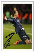 Zlatan Ibrahimovic Paris Saint Germain Autographe Signé imprimé photo football