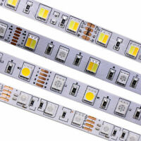 5M LED RGB CCT Strip light RGB+W+WW Tape XMAS Kitchen Cabinet Ceiling DC 12V 24V