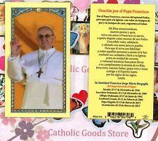 Oracion por el Papa Francisco - Spanish - Laminated  Holy Card