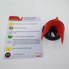 Heroclix Invincible Iron Man set Crimson Cowl #031 Rare figure w/card!
