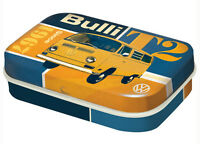 Retro Tin Metal Pill Box VW T2 BULLI KOMBI Mints 6x4cm Combi Licensed Volkswagen