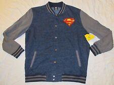MENS JACKET DC COMICS XL 46/48 SUPERMAN MAN OF STEEL BUTTON FRONT FULL JLA WARM!