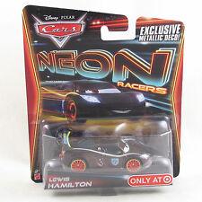 Disney Pixar Cars 2014 Neon Racers - Lewis Hamilton - exclusive metallic deco