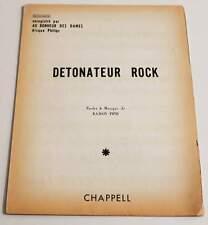 Partition vintage sheet music AU BONHEUR DES DAMES : Détonateur Rock * 70's