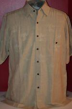 Bruno Mens (1X - BIG) 100% Washable Silk Palm Tree Design S/S Island Camp Shirt