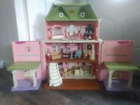 Fisher Price Dollhouse Grand Mansion Loving Family Large with Accessories