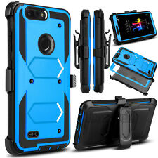 For ZTE Blade Z MAX /Z982 Hybrid Kickstand Rugged Hard PC Armor Phone Case Cover