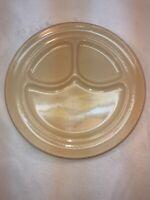 Vtg Buffalo China USA Restaurant Ware Tan Ironstone Divided Dinner Plate