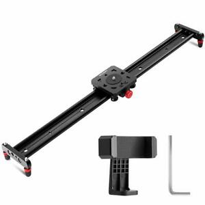 K&F Concept 23.6''/60cm Kamera Video Slider Track Dolly Videoschiene Stabilizer