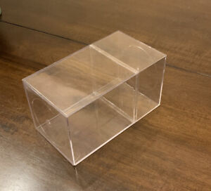 Clear Plastic Display Box Boxes 7 X 4 X 4 Inches. Perfect for Beanie Babies.