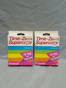 (2) Vintage Polaroid Time-Zero Supercolor SX-70 Land Film 2pk- Expired 07/90!