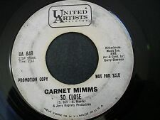 GARNET MIMMS SO CLOSE PROMO DJ 45 RECORD IT WAS EASIER TO HURT HER UA 848