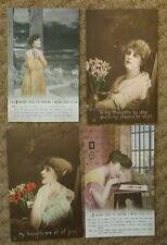 W.W.1. /  W.W. 2. MILITARY POSTCARD - GIRLFRIEND / WIFE AT HOME.