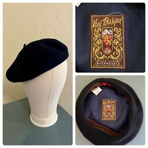 made in France Hat Vintage beret Hat Cap turquoise Jersey