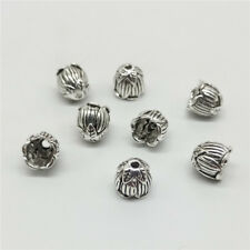 6 of 925 Sterling Silver Lotus Flower Bead Caps Bead Cones for Tassel Bracelet