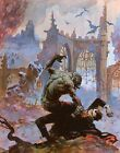 Dracula Meets the Wolfman Print by Frank Frazetta