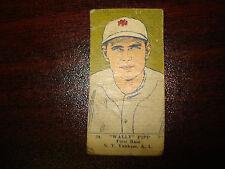 1923 W515-1 Wally Pipp #39 Strip Card New York Yankees Free Shipping