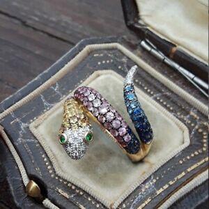 Gorgeous Animal Ring Women/Men Jewelry Punk Snake Gothic Rings Finger Size 6-10