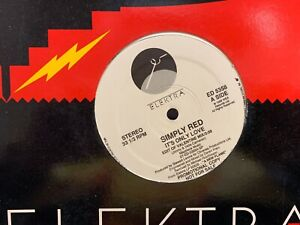 "SIMPLY RED IT'S ONLY LOVE 12"" LP 1989 ELEKTRA ED 5358 DJ PROMO"