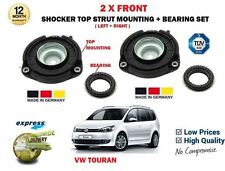 FOR VW TOURAN 2003-2015 2X FRONT SHOCKER TOP STRUT MOUNTINGS + BEARING
