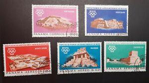 Panama 1968 Olympiade Mexico Mi ex 974 - 979
