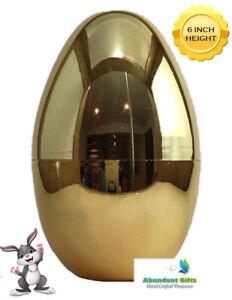 Gold Easter Egg 5.5 Inch Great Surprise Egg Empty Fillable Egg Hunt Prize