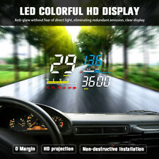 Car HUD Head Up Display OBD2 Projector Speedometer Fuel Speed Warning System AU