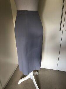 Scanlan Theodore Leather Skirt Powder Blue Size 8 NEW