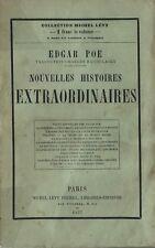 RARE EO 1857 E.A. POE + CHARLES BAUDELAIRE : NOUVELLES HISTOIRES EXTRAORDINAIRES