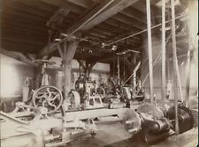 France, Blois, Manufacture Chaussures Rousset  Vintage albumen print. Machines