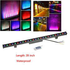 RGB Linear Wall Wash Light with Remote IP65 10W Bar Aluminum DJ Stage Washer