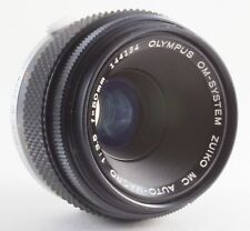 OLYMPUS OM 50mm F/3.5 MACRO LENS FOR OLYMPUS OM SERIES 35mm FILM SLRs