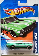 Hot Wheels 2011 Street Beasts '68 Chevy Nova Green