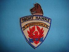 PATCH USAF 6313th AIR POLICE SÊCURITY SQ K-9   NIGHT HAWKS