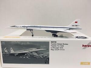 HERPA 1:400 Tupolev Design Bureau Tupolev YU-144S Le Bourget 1975 CCCP-77114 562