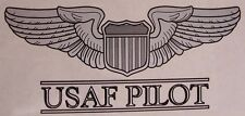 Window Bumper Sticker Military Air Force Pilot Wings NEW Decal with text