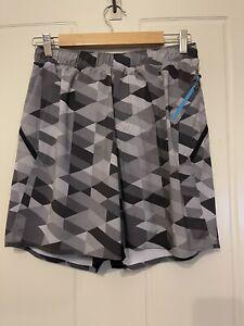Lululemon Mens Shorts Grey Pattern Medium