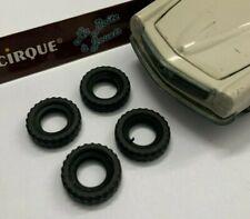 ** DO16 - 4 pneus noirs striés pour TEKNO MERCEDES 230SL 929